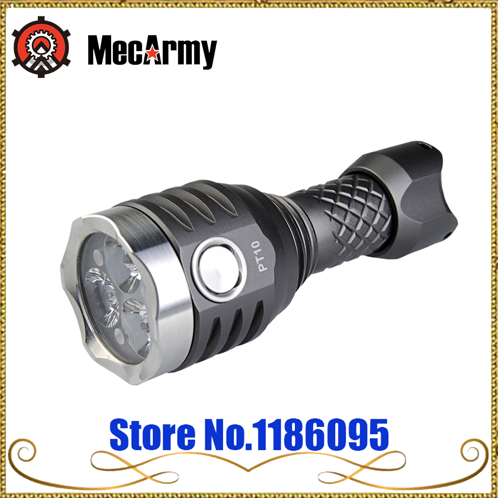 MECARMY PT10 Ultra Bright USB Rechargeable Compact Flashlight 3*CREE XP-G2 LEDs max. 800 Lumens 126 meter tactical torch mecarmy pt16 ti led flashlight page 2