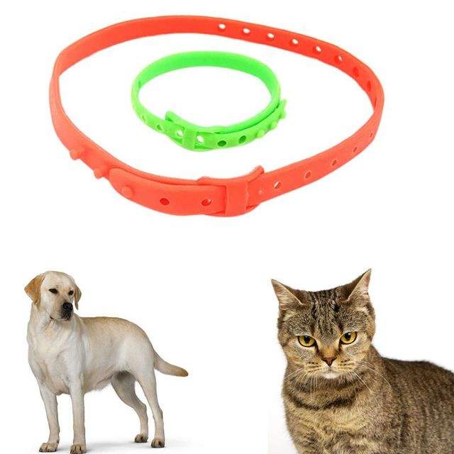 New Dog Repel Flea Collars Repellent Neck Ring Flea & Tick Collar For Dogs Cats Useful Soft Plastic Safety Dog Deworming Product