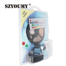 SZYOUMY Non-waterproof 5M 300Leds RGB Led Strip Light 3528 SMD DC12V 60Leds/M Flexible Lighting String Ribbon Tape Home Lamp