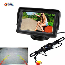 Online/Auto Parking Assistance System 2 in 1 4.3 Digital TFT LCD HD Mirror Car Parking Monitor+170 Degrees Car Rear view Camera