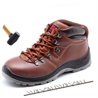 2019 Autumn High Genuine Leather Men Steel Toe Caps Work Boots Warm Breathable Waterproof Work Safety Shoes Military Sneakers