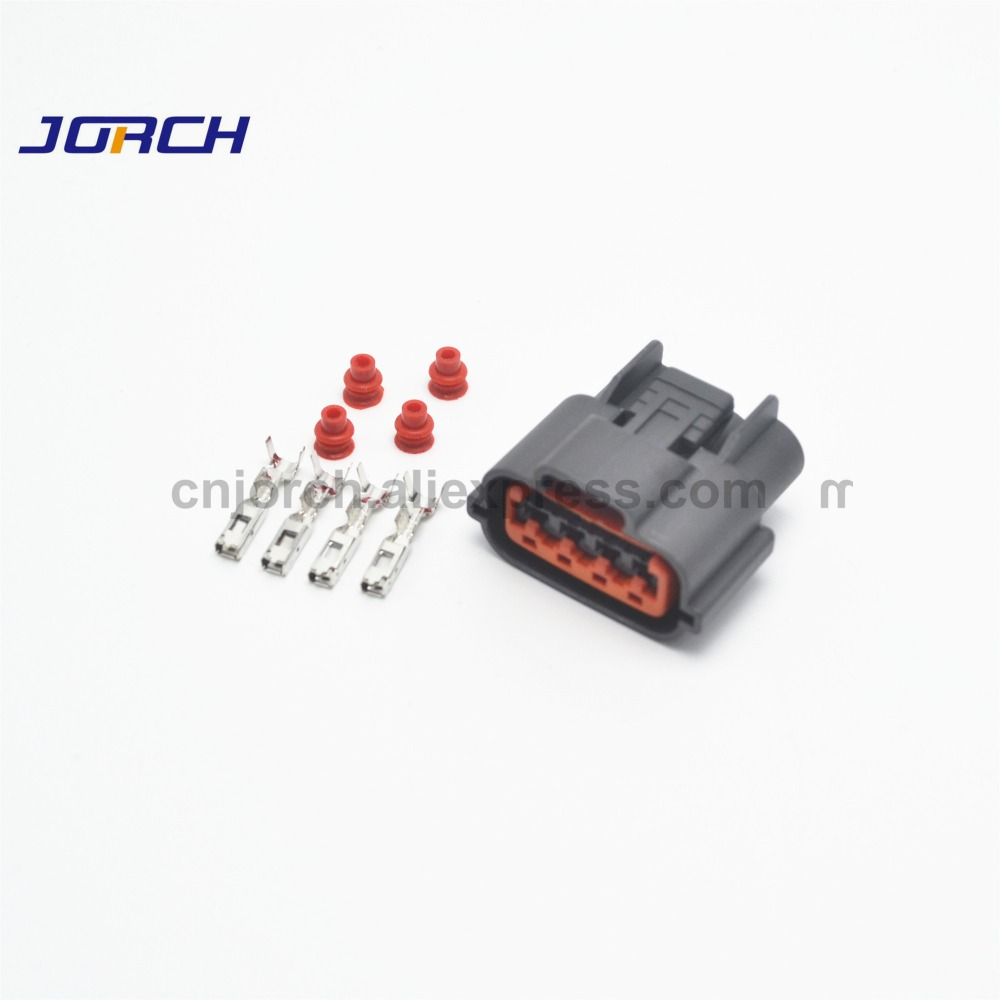 10 Sets 4 Pin Automotive Wire Harness Connector Waterproof Oxygen Sensor Plug Socket For Nissan Sr20det CAS 6098-0144