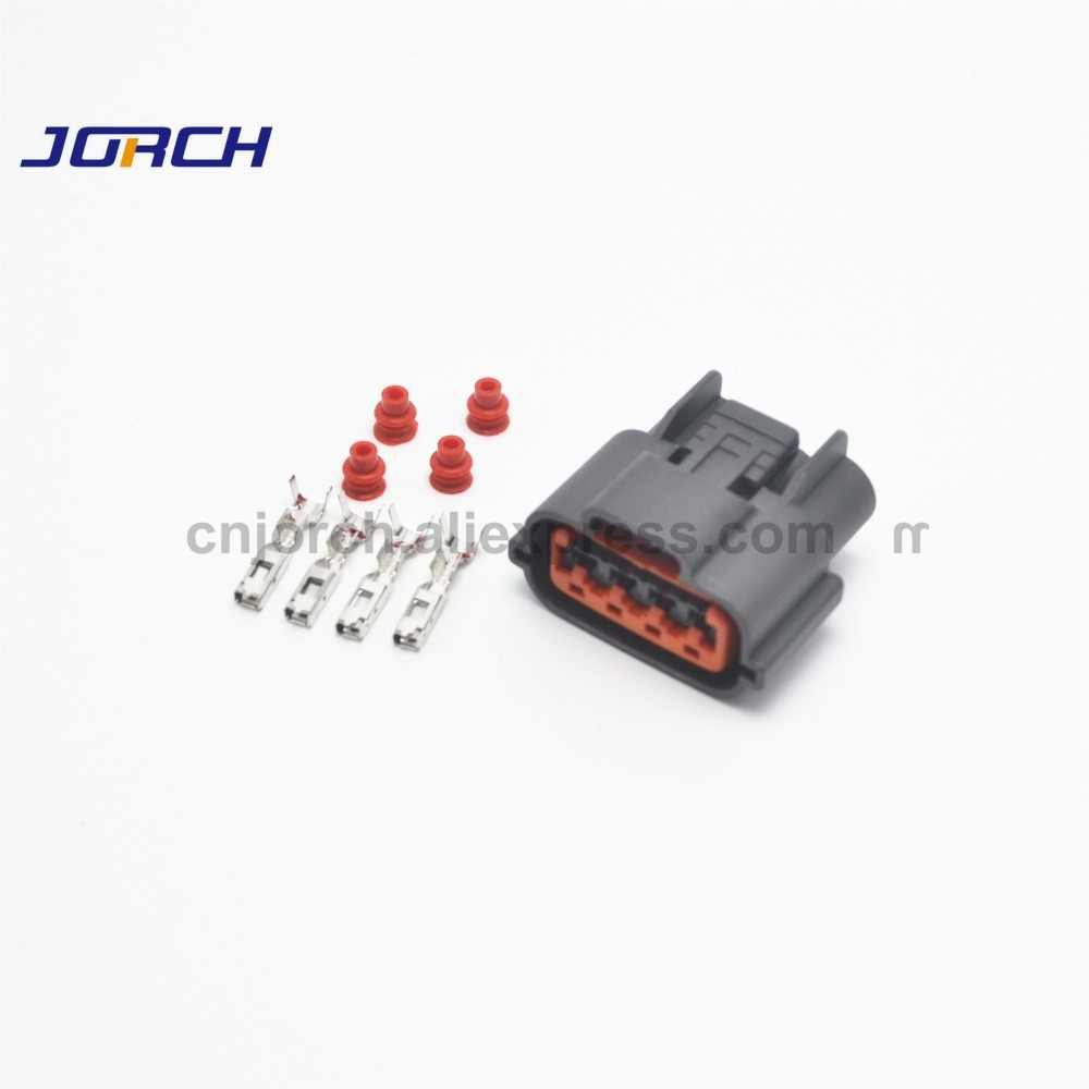 10 sets 4 pin automotive wire harness connector waterproof oxygen sensor plug socket for nissan sr20det [ 1000 x 1000 Pixel ]