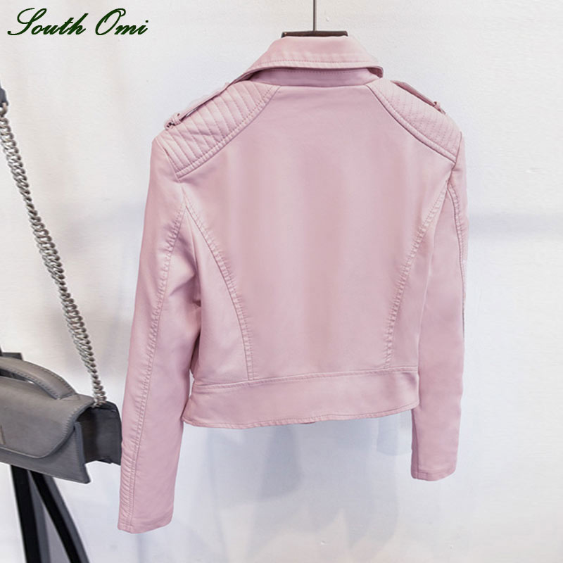 Aliexpress.com : Buy 2016 Black Pink Leather Jackets Motorcycle ...