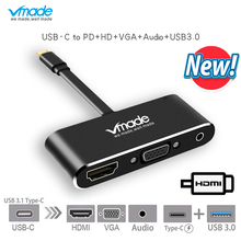 Vmade MULTI PORTS USBC DOCKING STATION 5 in 1 Support PD 3.0 charging,4k*2k HDMI for MacBook,Samsung Galaxy Note,Lenovo Yoga 720