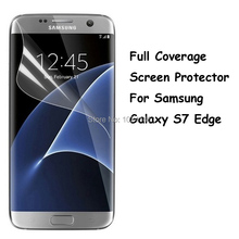 New Full Coverage Clear Soft TPU Film Screen Protector For Samsung Galaxy S7 Edge G9350 Cover