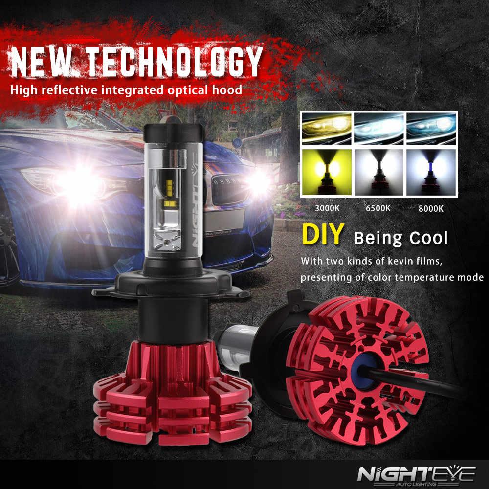NIGHTEYE H7 LED Car Headlight Bulbs H4 H7 H11 H1 H3 9006 HB4 9005 HB3 Hi-Lo Beam 10000lm 6500K Auto Headlamp Fog Light DC12v 24v