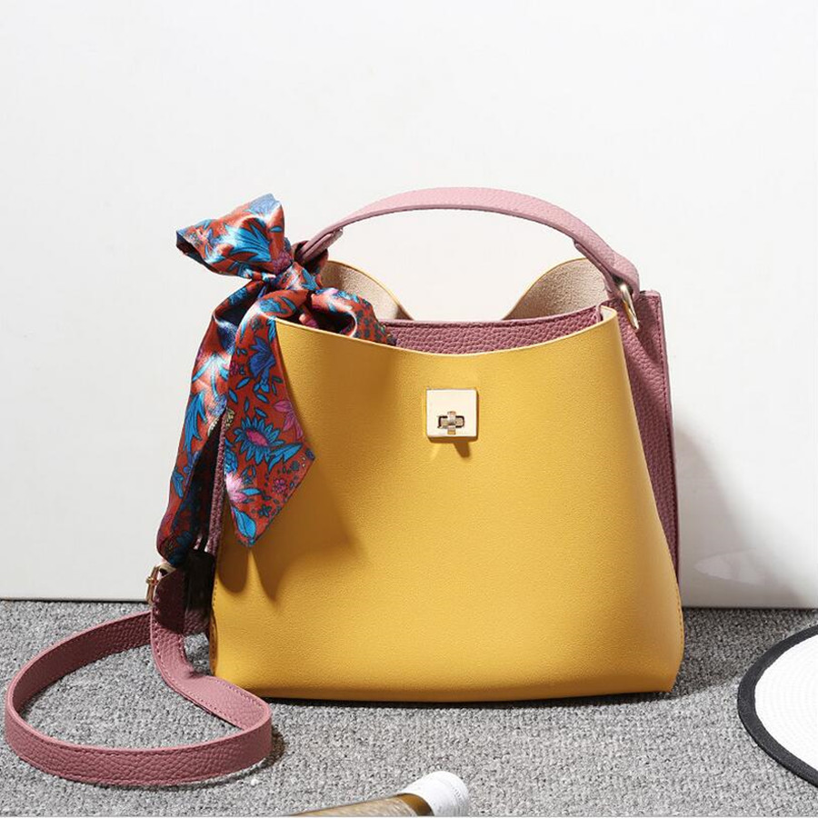 цены COOL WALKER New Fashion PU Leather Women Handbag Elegant Lady Pieces Shoulder Bag Girls Casual Tote Messenger Crossbody Bags