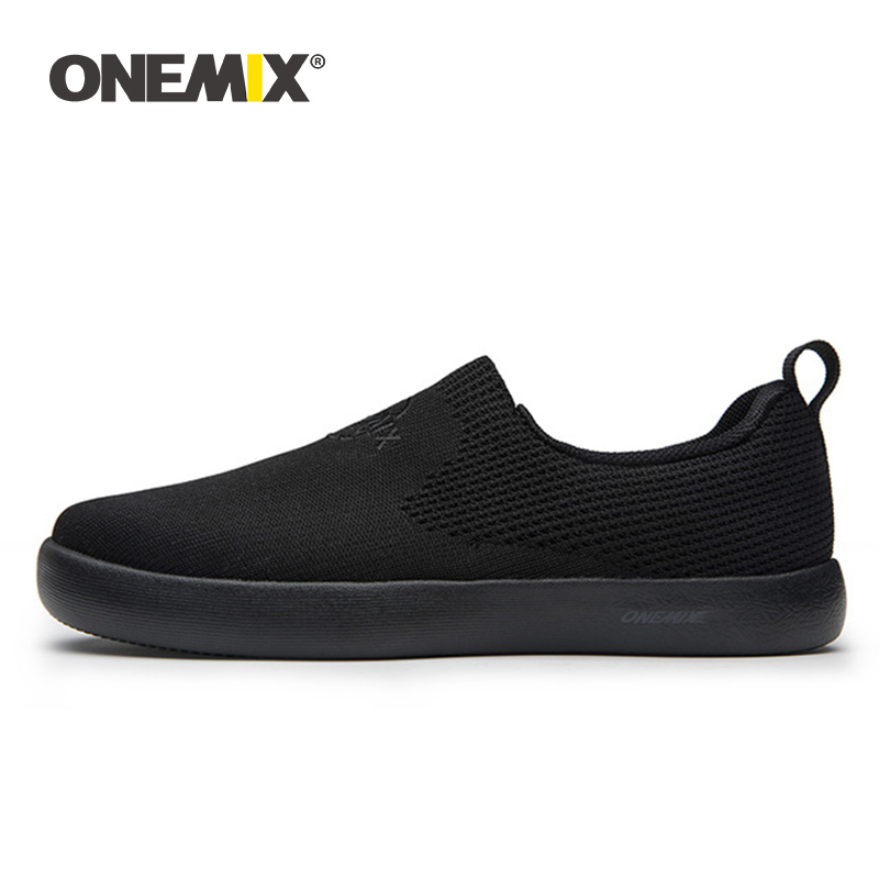 ONEMIX 2019 Men Shoes Sneakers Soft Mesh Breathable Light Flat Trainer Shoes Women Casual Slip-on Walking Shoes Zapatos De Mujer