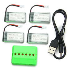 Upgraded Accessory Set For Mould King 33041 33041A 4 X 3.7V 380mAh 25C Battery / X6 Charger RC Drone Spare Parts Accessories
