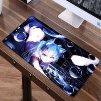 Grand 60X30cm XL Sexy Anime tapis de souris jeu Gamer gaming Hatsune Miku tapis de souris clavier tapis Mausunterlage tapis de souris