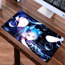 Большой 60 см x 30 см XL Sexy Anime коврик для мыши Игры Геймер игровая Хацунэ Мику коврик клавиатура Коврик mausunterlage Tapis де Souris