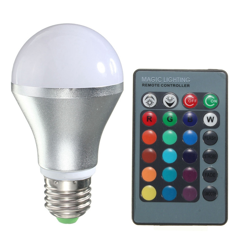 led light lamp bulbs spotlight with remote control colorful lighting. Black Bedroom Furniture Sets. Home Design Ideas