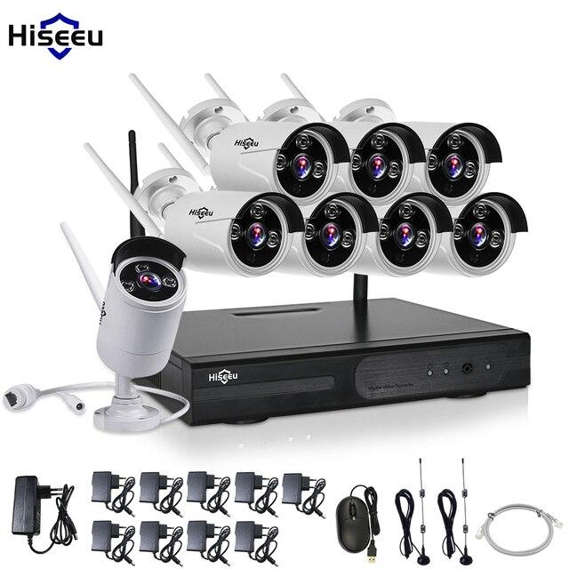 CCTV System 960P 8ch HD Wireless NVR kit Outdoor IR Night Vision IP Camera wifi  Camera kit Home Security System Surveillance