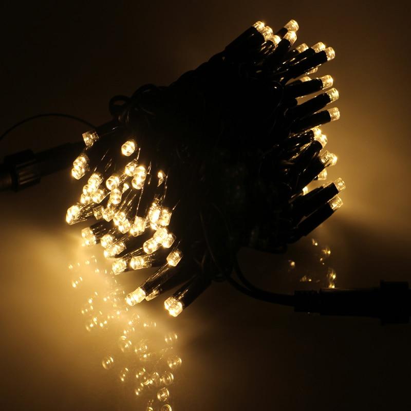 Mildness 100 Led String Lights 12M Waterproof 12V Holiday Christmas Festival Party Fairy Xmas Garden Outdoor Solar Light Lamp