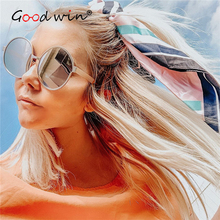 Good Win Round Sunglasses Women Ovesized Metal Glasses Frame Retro Big Female Sun Luxury Men Beach Eyeglasses UV