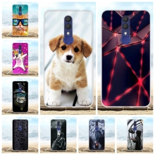 For Alcatel 1X 2019 Phone Case Ultra Slim Soft TPU Silicone Cover Animal Patterned Coque