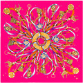 2016 seda Gorgeous Flying cerradura de la cuerda de la cinta colgante borla bufanda de seda patrón de la bufanda 100 * 100 cm