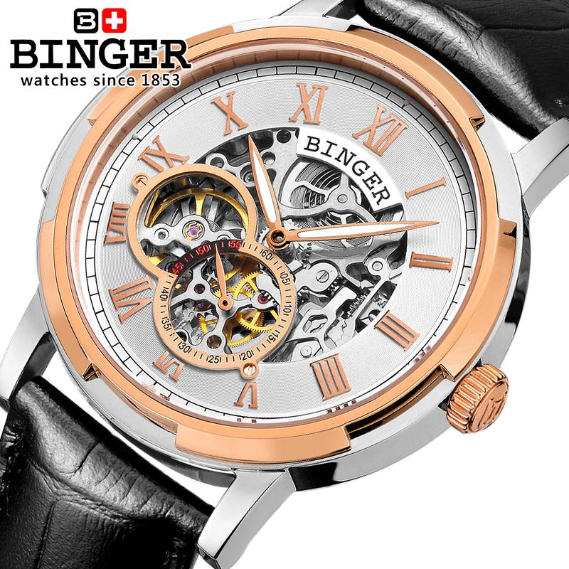Switzerland men's watch luxury brand men watches BINGER luminous Automatic self-wind full stainless steel Waterproof B5036-10 switzerland men s watch luxury brand wristwatches binger luminous automatic self wind full stainless steel waterproof bg 0383 7