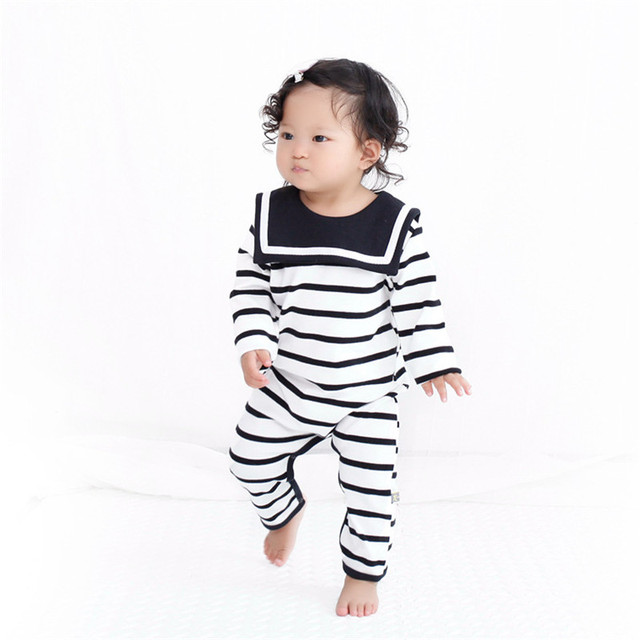 4c4e21a1e 2016 Autumn Winter Style Baby Girl Striped Costume Jumpsuits Boy ...
