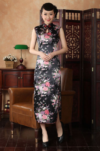 Shanghai Story Floral print evening dress long Qipao Dress chinese traditional cheongsam Chinese style dress 4 color