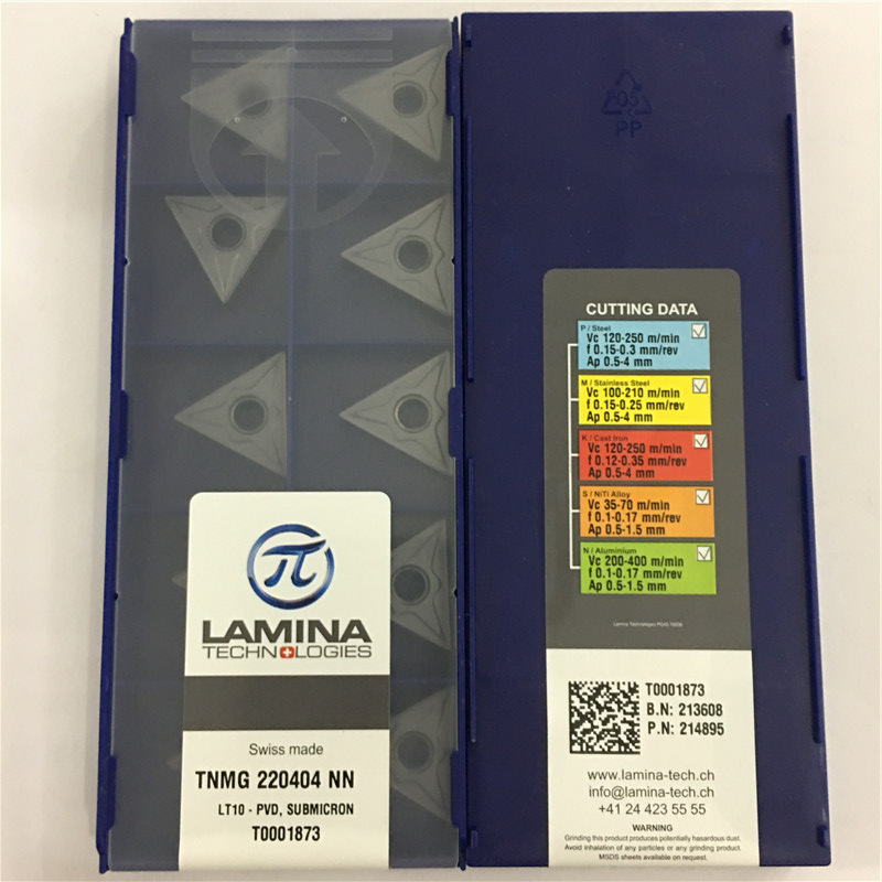 TNMG220404NN LT10 Original LAMINA CNC blade carbide insert lathe tool 10pcs lot FREE SHIPPING