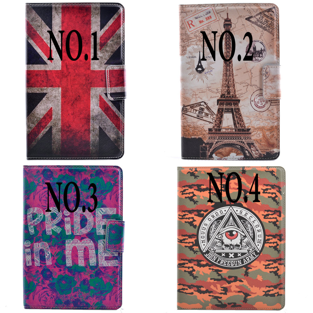Fashion Paris Eiffel Tower UK Flag Flip Stand PU Leather Tablet Protective Case Cover For Ipad Min 1/2/3 Ipad2/3/4 Shell+Gift