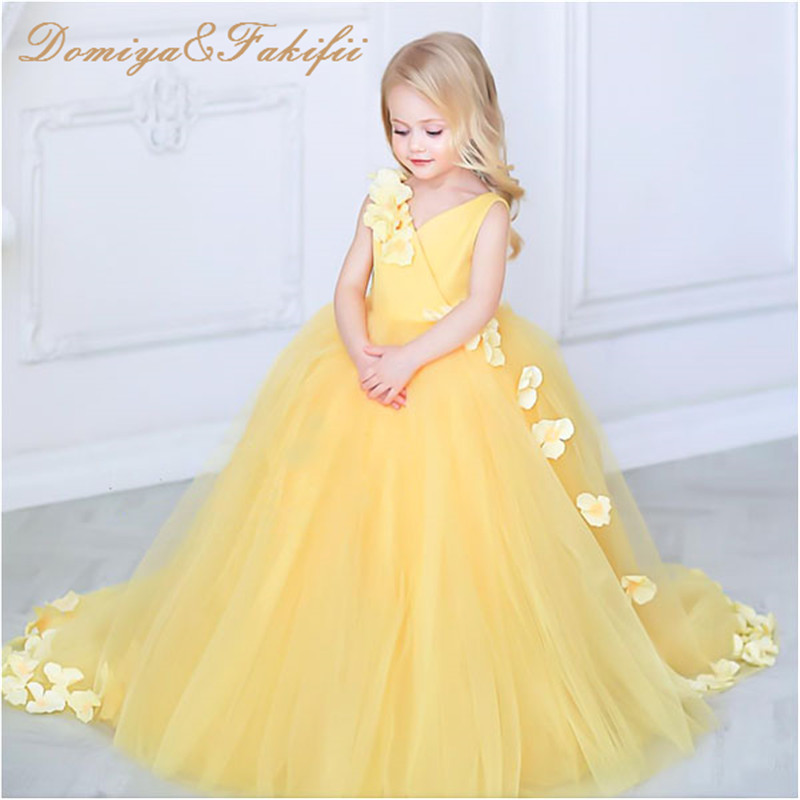 Flower Girl Dresses Summer Vestidos Children Wedding Dress 2018 Brand Princess Costumes for Kids Clothes Baby Girls Party Dress summer dresses for girls party dress kids costumes for girls blue flower princess vetement vestidos infantil children clothing