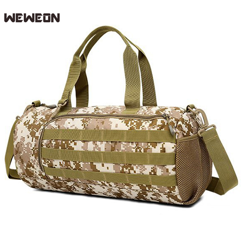 best loved arrives 50% price US $22.58 55% OFF|Portable Camouflage Sport Gym Bags Simple Fitness  Training Shoulder Bag Light Sport Handbag Duffel Army Travel Bags sac  sport-in Gym ...