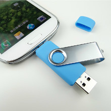 Two-site mobile phone OTG usb flash drive 4gb 8gb 16gb 32gb 64gb high speed rotation usb flash memory pen drive usb stick gift