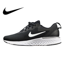 Nike Odyssey React Men s Running Shoes White Black Black Shock Absorbing  Breathable 1f85cab37
