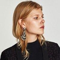 2017 Fashion Luxury Women Dangle Jewelry Silver Color Drop Earrings Bohemian Simulated Pearls Fringed Earrings
