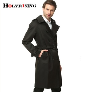 Image 5 - S 6XL Trench Coat Men British Style Spring Autumn Pea Coats Double Breasted Slim Solid Mens Wind Coat Windbreaker 4 color