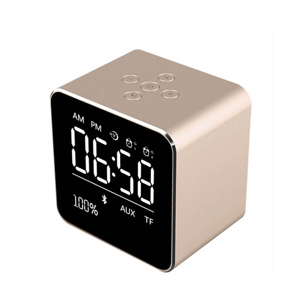 Multi-function Silent LED Electronic Alarm Clock Creative High-end Alarm Bluetooth Audio Charging Alarm Clock with Temperature