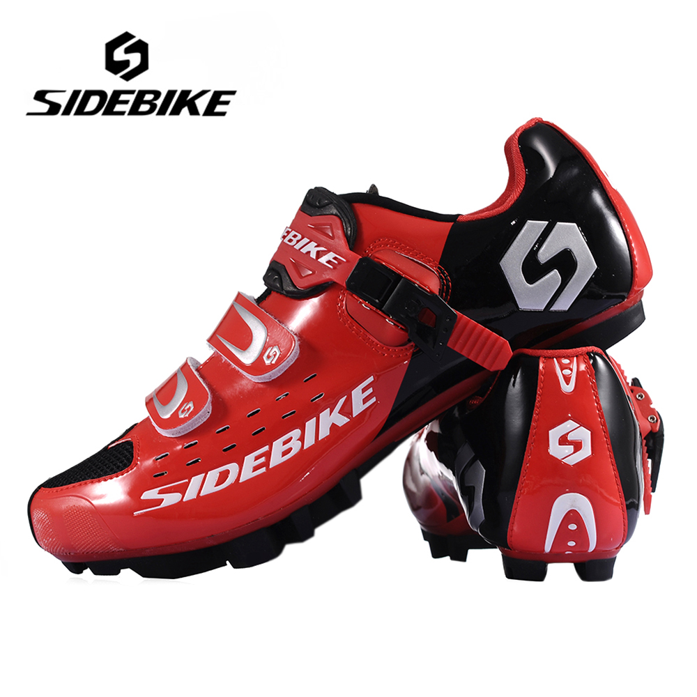 SIDEBIKE Lightweight Bicycle Cycling Shoes Men Women Breathable MTB Athletic Shoes Mountain Bike Racing Self-Locking Shoes, Red mountain bike four perlin disc hubs 32 holes high quality lightweight flexible rotation bicycle hubs bzh002