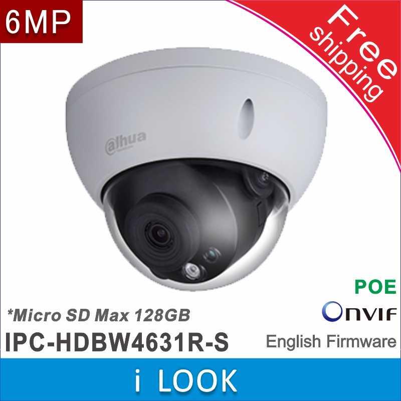 Бесплатная доставка оригинальный dahua 6MP IP Сетевая камера POE SD слот DH-IPC-HDBW4631R-S P2P IPC-HDBW4631R-S заменена IPC-HDBW1531E