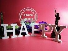 1 шт. 15 см Рождество Резного Белого письмо lettre en bois украшения Дома подарок На День Рождения и свадебные подарки A_Z И 0_9