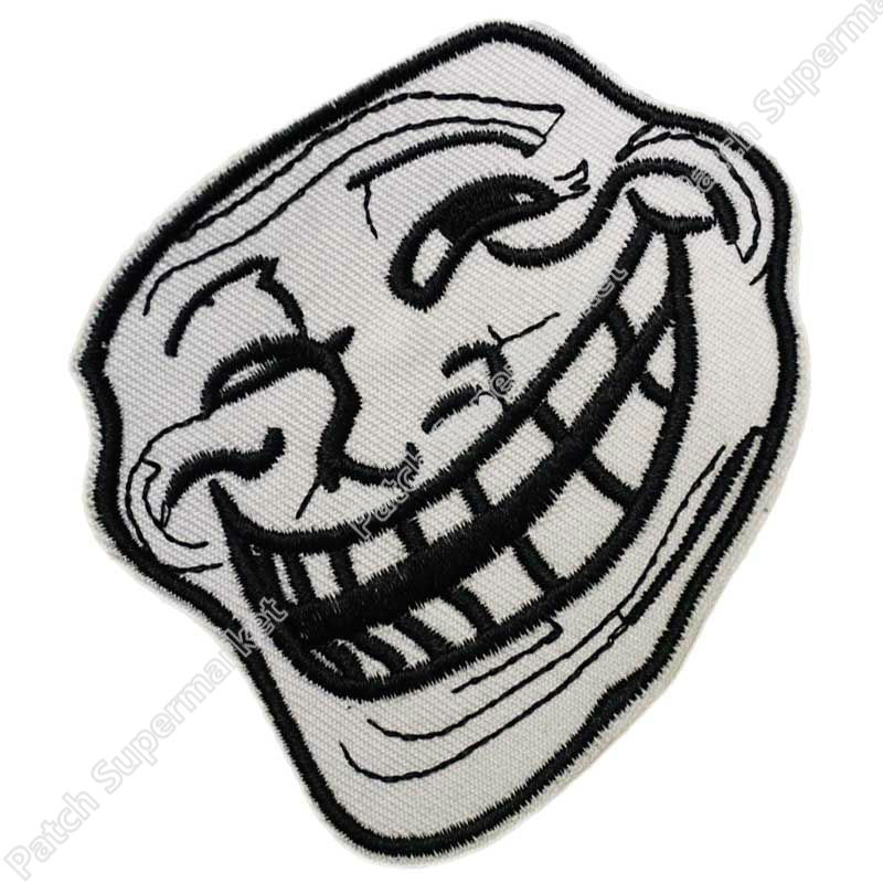 trollface iron on patch
