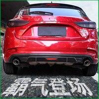 For Mazda 3 M3 Axela Hatchback 2017 2018 Rear Bumper Guard Diffuser Spoiler Upgrade Rear Bumper Lip Car Body Kit Auto Parts
