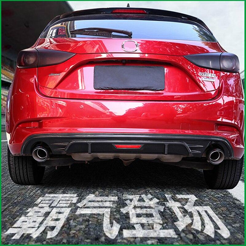Pour Mazda 3 M3 Axela hayon 2017 2018 arrière pare-chocs garde diffuseur Spoiler mise à niveau pare-chocs arrière lèvre carrosserie Kit Auto pièces