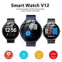 V12 Blood Pressure Oxygen Smart watch Activity tracker Smartwatch Heart Rate sport Smart Fitness bracelet PK amazfit verge 2