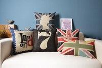 لندن غطاء وسادة ، الإبداعية الكرتون الملونة الاتحاد جاك بريطانيا ملكة رمي سادة القضية وسادة الجملة