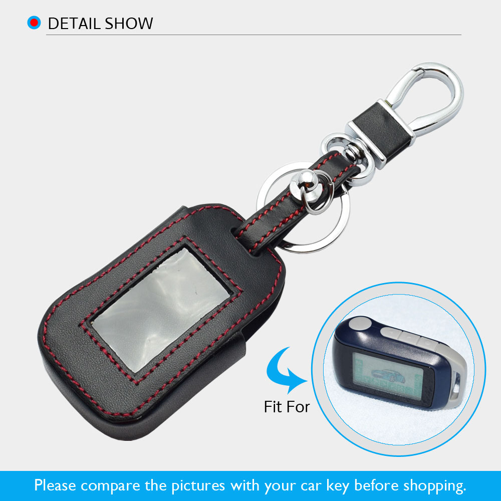 Image 5 - ATOBABI Leather Key Case For StarLine A92 A94 A62 A64 A95 Two Way Car Alarm LCD Remote Control Transmitter Keychain Cover Bag-in Key Case for Car from Automobiles & Motorcycles