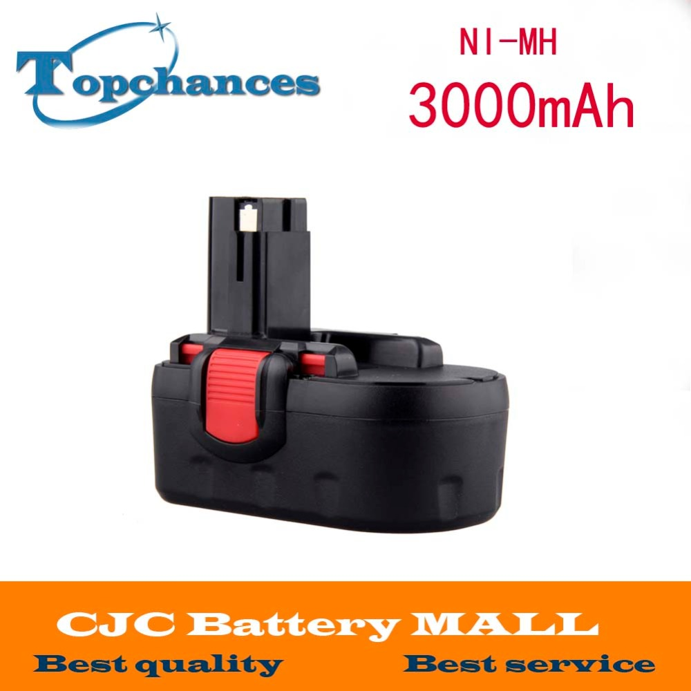 18V 3000mAh Ni-MH Rechargeable Battery for Bosch Power Tools Battery BAT025 BAT026 BAT160 BAT180 BAT181 BAT189 for bosch 24v 3000mah power tool battery ni cd 52324b baccs24v gbh 24v gbh24vf gcm24v gkg24v gks24v gli24v gmc24v gsa24v gsa24ve