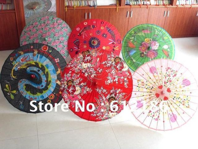 Anti-rain and UV  Hand-painted  oiled paper umbrella / Dance Umbrella Chinese traditional art of quality LOGO