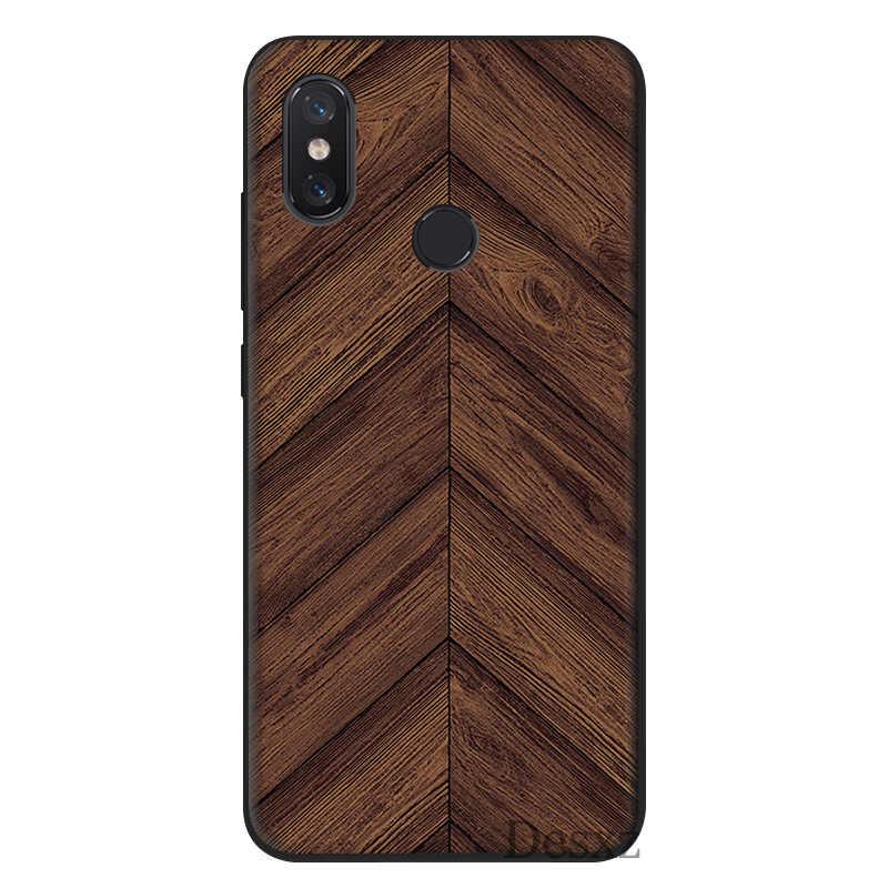 Textura de madera teléfono caso funda para xiaomi mi 6 8 Lite A1 A2 5X 6X F1 casos