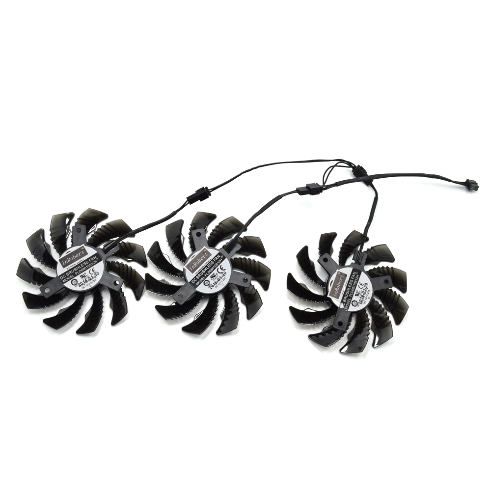 75mm PLD08010S12H 2Pin 3Pin Cooling Fan Replacement For Gigabyte GTX 960 970 GTX980 GTX 1050 Graphics Video Card Cooler Fan