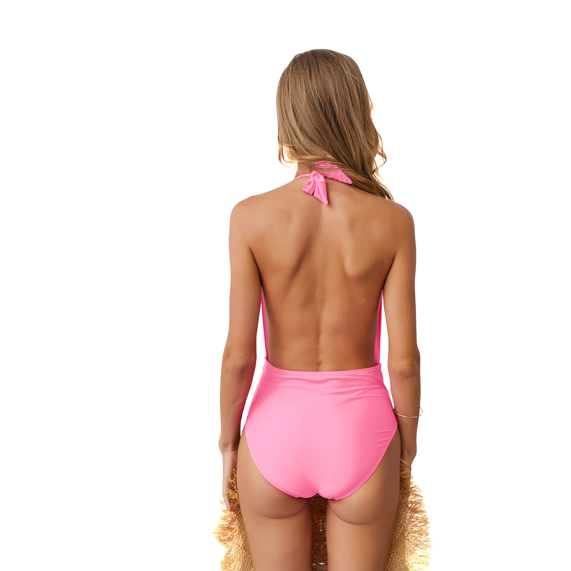 Sexy summer Swimsuit Women Swimwear One Piece Bodysuit Push Up Monokini Halter Cross Bathing Suit Swim Suist Wear Female Bikini in Body Suits from Sports Entertainment