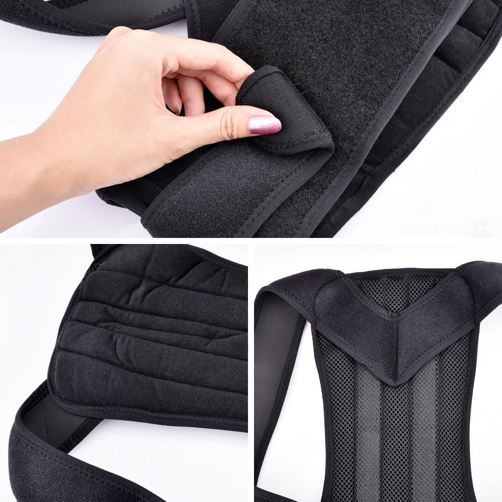 HTB1STm8Xb1YBuNjSszhq6AUsFXaB - Back Posture Corrector Shoulder Lumbar Brace Spine Support Belt Adjustable
