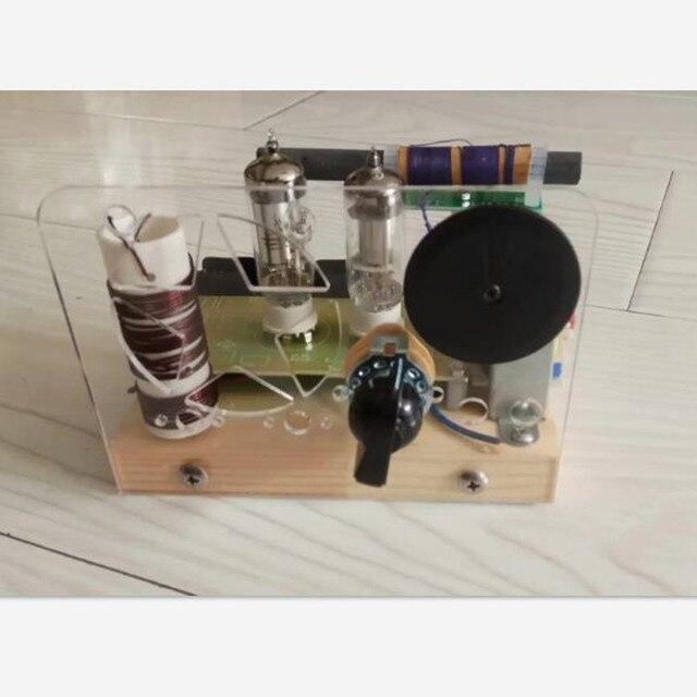 Электронная трубка постоянного тока, средняя/короткая волна, двухстороннее радио, два диапазона, электронная трубка, радио Набор diy kit
